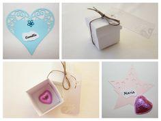 gaveeske til gjestene, bordkort til dåp, bryllup og konfirmasjon. www.pynttilfest.no