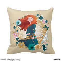 Princess - Merida - Strong Pillow, home decor, decoración #cojín #pillow