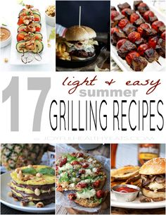 17 Light & Easy Summer Grilling Recipes that will make your tummy happy! | joyfulhealthyeats.com #bbq #healthy