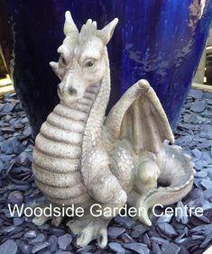 Resin Dragon Garden Ornament Fantasy Mystical | Woodside Garden Centre | Pots to Inspire