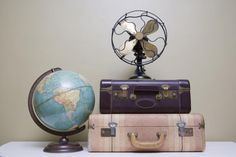10 Truths You Need to Know About Vintage Decorating, Home Accessories, Add interest to your home by scoring these hot vintage home accessories at garage and yard sales. Garage Sale Pricing, Garage Sale Signs, Vintage Globe, Vintage Decor, Vintage Home Accessories, Accessories Store, Retro Fan, Cheap Vases, Fireplace Garden