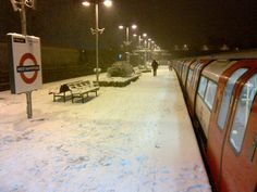 West Hampstead station in the snow ( Mind The Gap, London Transport, London Underground, Image Sharing, New Image, Old And New, Transportation, Tube, Snow