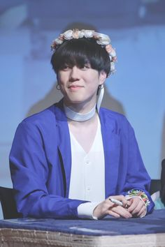 GOT7 Yugyeom || aww he looks so cute in a flower crown