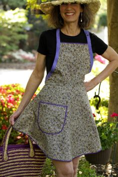Cococtions - Everyday Flair Periwinkle Pine Apron  Khaki Neutral by cococtions, $28.00