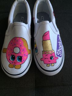 Shopkins Shoes Etsy shop https://www.etsy.com/listing/248668899/shopkins-shoes-hand-painted