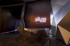 Trying to stand out as a night club or any venue in Abu DAbi is a difficult task. This inspiring and creative night club (Allure) is located at the Yas Island Yacht Club on Yas Island, Abu Dhabi. Nightclub Bar, Nightclub Design, Abu Dhabi, Jojo Restaurant, Visual Merchandising, Commercial Interiors, Commercial Design, Design Furniture, Night Club