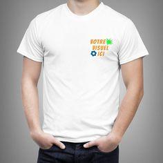 Tee shirt personnalisé Express – Coeur – 1 ex Impression Sur Tee Shirt, T Shirt Original, Tee Shirts, Tees, Couture, Mens Tops, Impressionism, T Shirts, T Shirts