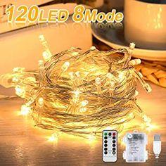 Lichterkette Batterie Nasharia 12M 120 LED Lichterkette mit Fernbedienung und Timer 8 Modi Dimmbar USB/Batterie betrieben Lichterkette Außen Innen für Zimmer Weihnachten Weihnachtsbaum Party02 - 13.98 - 4.7 von 5 Sternen - Lichterkette Herbst 2019