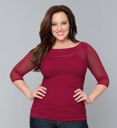 #plussize top at www.curvaliciousclothes.com Sizes 1X-5X Light-as-air mesh and a curve-loving shape make this top fresh and chic