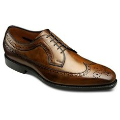 Larchmont - Long Wingtip Lace-up Oxford Mens Dress Shoes by Allen Edmonds Mens Wingtip Shoes, Brogues, Men S Shoes, Your Shoes, Fashion Shoes, Mens Fashion, Allen Edmonds, Leather Shoes, Me Too Shoes