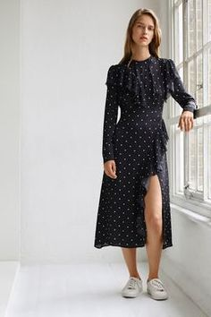 Polka Deconstructed Dress by Boutique