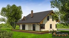 O casa de vis cu 4 dormitoare mansarda si garaj - proiect detaliat cu fotografii Home Fashion, Cabin, House Styles, Home Decor, Decoration Home, Room Decor, Cabins, Cottage, Home Interior Design