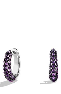 Free shipping and returns on David Yurman 'Cable Candy' Hoop Earrings at Nordstrom.com. Sterling silver and darkened sterling silver. Faceted amethyst, green onyx or hematine. Earrings, 21.8mm x 6.3mm. By David Yurman; imported.