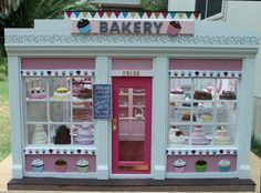 Furnished Two Window Miniature Bakery Shop by BakeriesByBrenda, $459.95