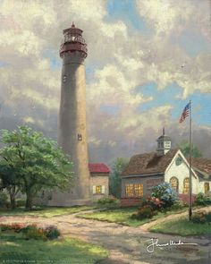 Thomas Kinkade - Cape May Light  2003