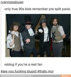 okay but fall out boy dressed as panic at the disco repin if you agree