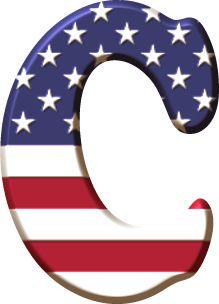 Alfabeto con la Bandera de USA Alphabet Images, Alphabet Art, Monogram Alphabet, Alphabet And Numbers, English Alphabet, Alphabet Soup, Scrapbook Letters, Banner Letters, Captain America Party