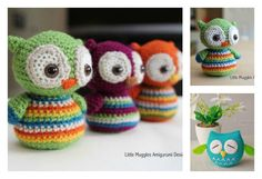 Here are a couple of owl free crochet pattern. These are super cute amigurumi owls, especially the one with their big sleepy eyes. They are easy to make.