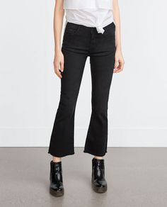 CROPPED FLARED JEANS-View all-Jeans-WOMAN-SALE   ZARA United States