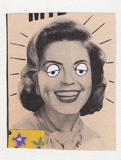 Lady Surprise  Original Collage aceo by kellygormanartwork on Etsy, $8.00