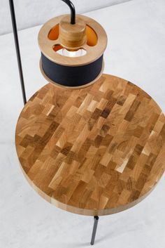 Fu Mod Sid Rd Fu Mod Sid Rd d Mod dModGr Wooden and Metal tables Side table with embedded lamp The ideal solution for next to your bed nbsp hellip side table Metal Tables, Wooden Tables, Round Side Table, Lampshades, Table Furniture, Bedding, Home, Design, Wood Tables