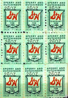 Green Stamps   I remember licking them and putting them all in the redemption books