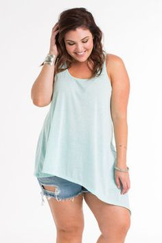 Plus Size Fashion // Living Doll Los Angeles // On The Edge Tank  ★