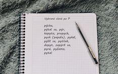 Vybrané slová po P Notebook, The Notebook, Exercise Book, Notebooks