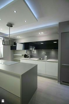 Ideas Cocinas Modernas Muebles Altos T Art Ofertaml Zdjęcie Od Loft Art Izabela Luxury Kitchen Design, Design Your Kitchen, Luxury Kitchens, Interior Design Kitchen, Home Kitchens, Home Decor Kitchen, Kitchen Furniture, New Kitchen, Kitchen Lamps