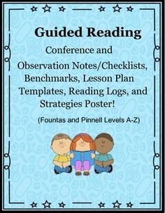 "** UPDATED AUGUST 2015!! **Guided Reading is a time during the day in which the teacher meets with a small group of students to help ""guide them"" through a book or lessons that is usually 1 instructional level about their independent level.  The teacher focuses on specific skills, strategies, phonics skills, vocabulary, etc."