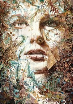 Expressive Illustrations Are Composed with Tea Vodka Whiskey and Ink by Carne Griffiths UK Based Illustrator Carne Griffiths paints incredible portraits with tea brandy whiskey vodka even graphite and calligraphy ink. The subjects in his art are constructed out of the smattering of beverages across his canvas the uncommon choice of is palette revealing the experimental and creative nature of the artist. Breaking out of art etiquette he works with the spontaneous flows of movement and dept...