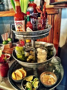 Be the Super Hero at your next bowl party by offering a bloody mary bar. Check out our Bloody Mary Recipes along with our other game day recipes and enjoy the game. Bloody Mary Bar, Fun Drinks, Yummy Drinks, Beverages, Juice Drinks, Ideas Party, Nacho Bar, Taco Bar Buffet, Day Of Dead