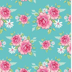 Tilda fabric Rosy Teal EXTRA WIDE Fat Quarter by SewMakeMeUK, £4.30