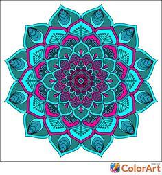 Mandala Drawing, Mandala Painting, Mandala Tattoo, Adult Coloring Pages, Coloring Books, Desenhos Love, Mandala Pattern, Mandala Coloring, Fractal Art
