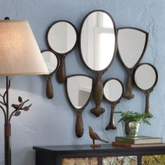 Hand Mirror Collage Mirrors On The Wall Traditional
