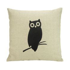 Cute throw pillow! This is the owl I'd want as a tattoo :)