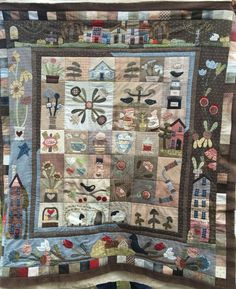 Still som quilting to do. Love this quilt, designed Hand made by Margott