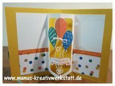 Geburtstagskarte mit Ballonparty und Pop-Up Framelits  http://www.manus-kreativwerkstatt.de/2017/01/08/ballonparty/