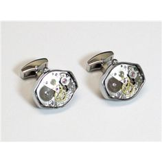 Silver SS Oval Watch Movemant Cufflinks $69.95/pair