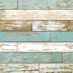 Scrap Wood Turquoise Weathered Texture 2701-22318