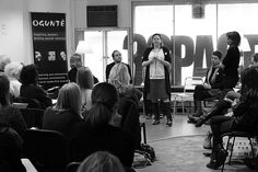 Panel of Investors, Funders, Crowdfunding platforms (*here Theresa Burton from Buzzbnk, speaking)  final public event Make a Wave PI round 2. March 2013