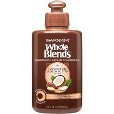 Garnier Whole Blends Coconut Oil & Cocoa Butter Extracts Smoothing Leave-In Conditioner, 10.2 fl oz