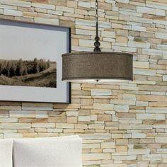 Luminaire suspendu bronze avec abat-jour en lin bronze, idéal pour salle à manger, chambre, escalier et entrée.