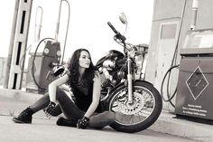 Lovely black and white motolady photography by Radu Carnaru.