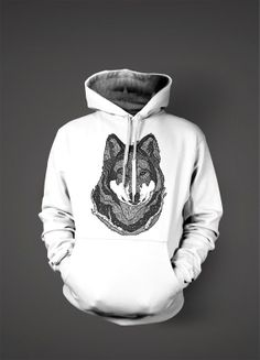 Wolf Hoodie by Geekstertees on Etsy, $21.99