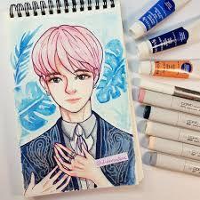 Diana Diaz, Copic Sketch Markers, Drawing Reference Poses, Bts Jimin, Watercolor, Instagram, Drawings, Korean, Pop