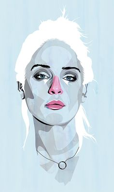 Alvaro Tapia Hidalgo, Chile, Week 5: Mixed Media. Portraits with watercoloure, acrylic, ink, pencils. Unique skin shadings.
