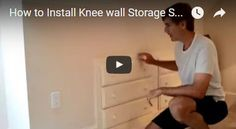 Take Advantage of Knee Walls in Your Finished Attic by Installing a Chest of Drawers - http://www.homeadditionplus.com/attic_info/Install_Knee_Wall_Storage_Finished_Attic_Video.htm