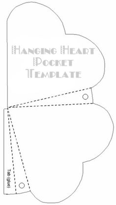 Hanging Heart Pocket and other templates Heart Template, Butterfly Template, Flower Template, Crown Template, Felt Templates, Applique Templates, Applique Patterns, Paper Butterflies, Scrapbook Paper