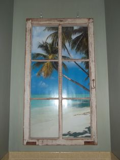 I had this idea a long time ago - I have the antique windows just looking for the perfect scene to go behind it.  Going to hang it in the area above my stairway